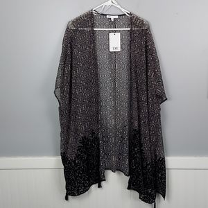NWT Sheer Cover up Cardigan  by DR2, size 1x